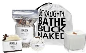 bathe buck naked